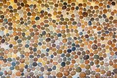 предпосылка сделала каменную белизну стены текстуры камней Стоковая Фотография RF