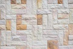 предпосылка сделала каменную белизну стены текстуры камней Стоковое Фото