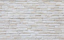 предпосылка сделала каменную белизну стены текстуры камней Стоковые Изображения RF