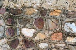 предпосылка сделала каменную белизну стены текстуры камней Стоковое фото RF