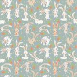 Предпосылка с зайцами Стоковые Изображения