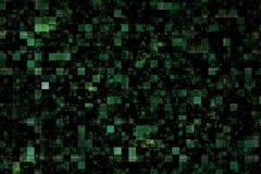 Предпосылка с зелеными квадратами Стоковое Фото