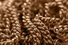 Предпосылка с золотой цепью Стоковая Фотография
