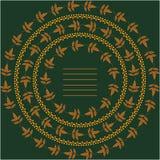 Предпосылка с листовыми золотами и цветками Стоковое Фото