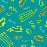 Предпосылка с карандашами Стоковое Изображение