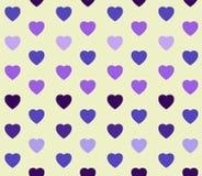 Предпосылка с картиной покрашенных сердец Стоковая Фотография RF