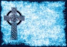 Предпосылка с кельтским крестом Стоковое фото RF