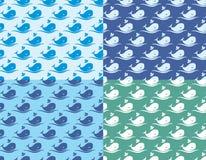 Предпосылка с китами Стоковые Фото