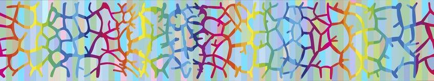 Предпосылка с кожей жирафа в цветах радуги Иллюстрация штока