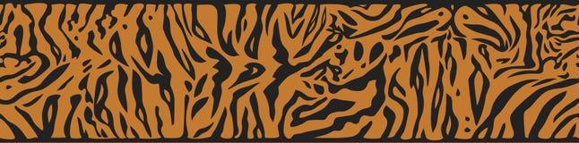 Предпосылка с кожей тигра Стоковая Фотография RF