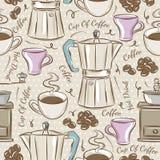 Предпосылка с комплектом кофе бесплатная иллюстрация