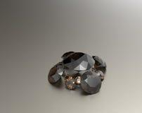 Предпосылка с коричневыми драгоценными камнями иллюстрация 3d Стоковые Изображения