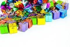 Предпосылка с коробкой подарка Стоковые Фото