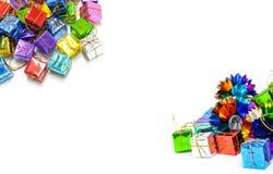 Предпосылка с коробкой подарка Стоковое Изображение RF