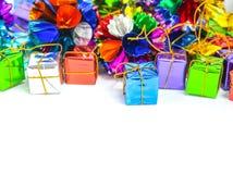 Предпосылка с коробкой подарка Стоковая Фотография RF