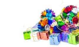 Предпосылка с коробкой подарка Стоковое Изображение