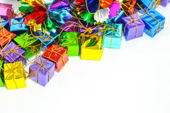 Предпосылка с коробкой подарка Стоковые Изображения RF