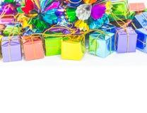 Предпосылка с коробкой подарка Стоковые Изображения