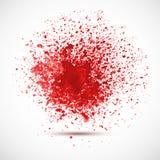 Предпосылка с красными пятнами и брызгами. Стоковая Фотография RF