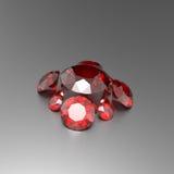 Предпосылка с красными драгоценными камнями иллюстрация 3d Стоковые Изображения
