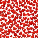 Предпосылка с красными сердцами в 3D, трехмерным изображением, высоким разрешением, поздравительой открыткой ко дню рождения, изо Стоковые Изображения