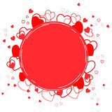 Предпосылка с красными сердцами - иллюстрация Стоковые Фотографии RF