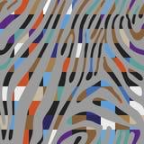 Предпосылка с красочной картиной кожи зебры Стоковое Изображение