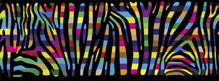 Предпосылка с красочной кожей зебры Иллюстрация штока