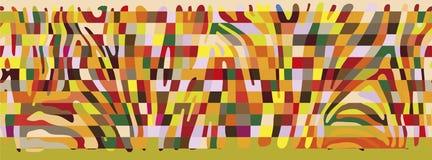 Предпосылка с красочной кожей зебры Бесплатная Иллюстрация