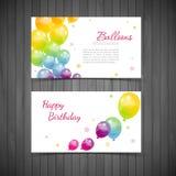 Предпосылка с красочными воздушными шарами Стоковая Фотография