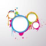 Предпосылка с красочным кругом grunge Стоковое фото RF