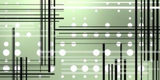 Предпосылка с кругами и черными линиями иллюстрация вектора