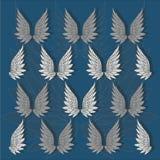 Предпосылка с крылами ангела повторения также вектор иллюстрации притяжки corel Стоковое Изображение RF