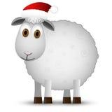 Предпосылка с овцами Санты Стоковые Изображения