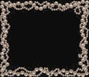 Предпосылка с ожерельем жемчуга Стоковое Изображение