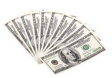 Предпосылка с долларами американца денег Стоковая Фотография