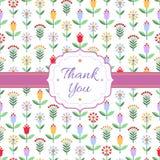 Предпосылка с пестроткаными цветками, ягодами и рамкой иллюстрация штока