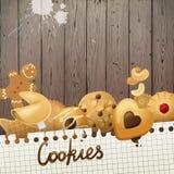 Предпосылка с печеньями Стоковая Фотография RF