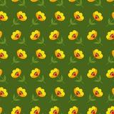 Предпосылка с покрашенной конспектом картиной цветков Стоковые Фотографии RF