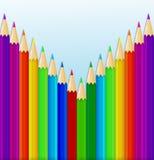 Предпосылка с покрашенными карандашами. Стоковые Изображения RF