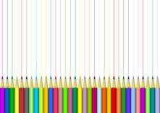 Предпосылка с покрашенными карандашами Стоковое Фото