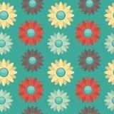 Предпосылка с покрашенными цветками Стоковые Изображения