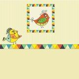 Предпосылка с попугаем птицы Стоковые Фото