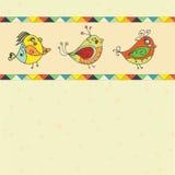 Предпосылка с попугаем птицы Стоковая Фотография RF