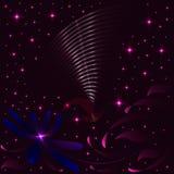 Предпосылка с птицей космоса Стоковое фото RF
