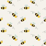 Предпосылка с пчелами также вектор иллюстрации притяжки corel Стоковое Изображение