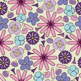 Предпосылка с различными цветками Стоковая Фотография