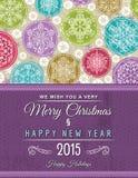 Предпосылка с рождественскими елками, вектор Стоковое Изображение