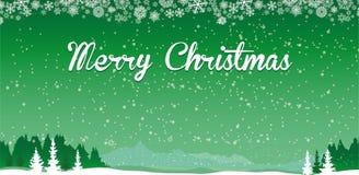 Предпосылка с Рождеством Христовым зеленая Стоковая Фотография RF