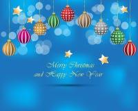Предпосылка с Рождеством Христовым и Нового Года Стоковые Фото